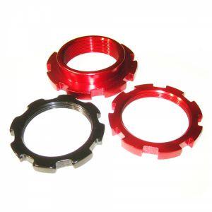 BC Racing V1 Red Locking Ring Set (A/B/C) 3 Rings per Shock